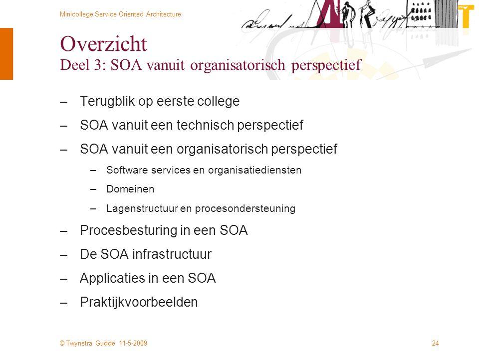Overzicht Deel 3: SOA vanuit organisatorisch perspectief