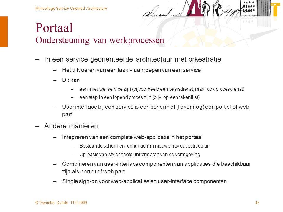 Portaal Ondersteuning van werkprocessen