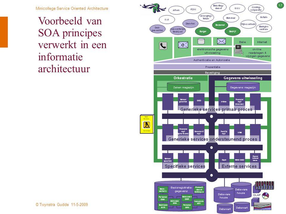 Voorbeeld van SOA principes verwerkt in een informatie architectuur