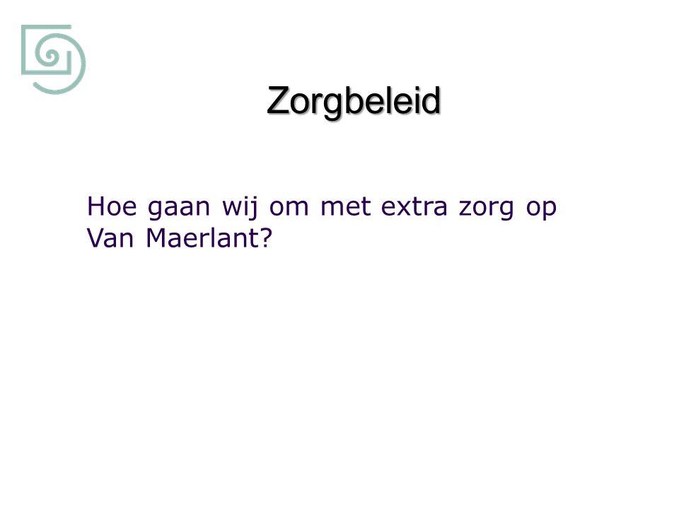 Zorgbeleid Hoe gaan wij om met extra zorg op Van Maerlant