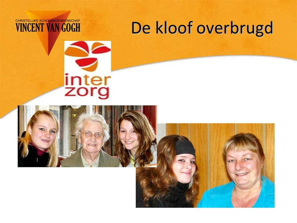De kloof overbrugd