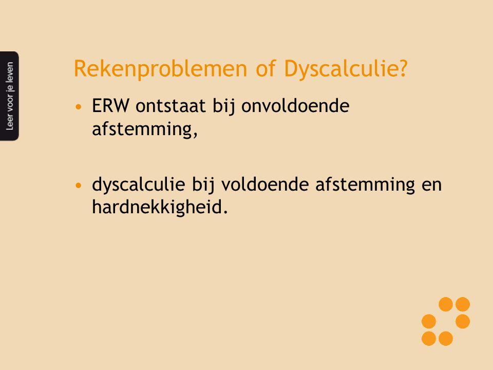 Rekenproblemen of Dyscalculie