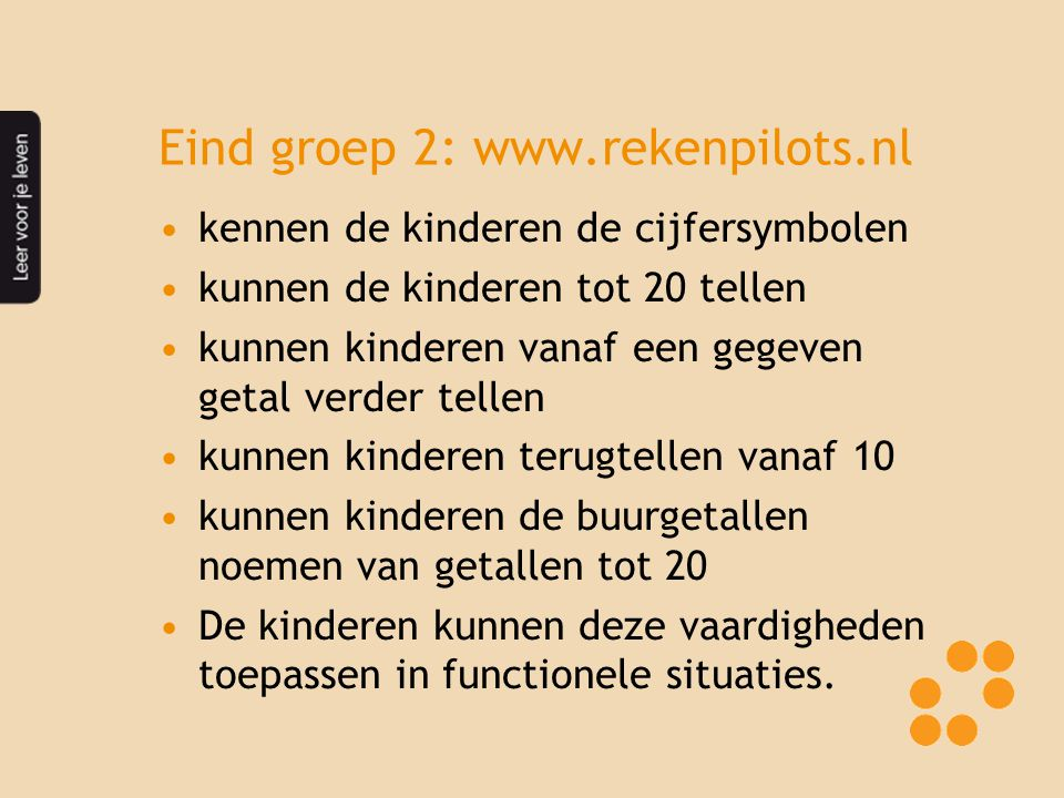 Eind groep 2: www.rekenpilots.nl