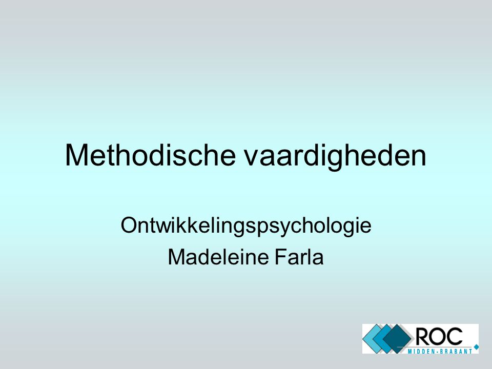 Methodische vaardigheden