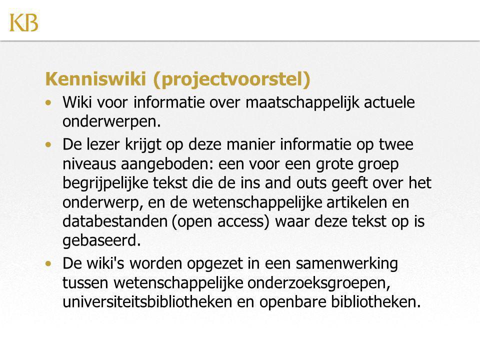 Kenniswiki (projectvoorstel)