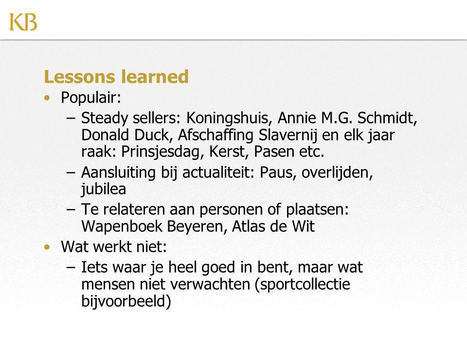 Lessons learned Populair: