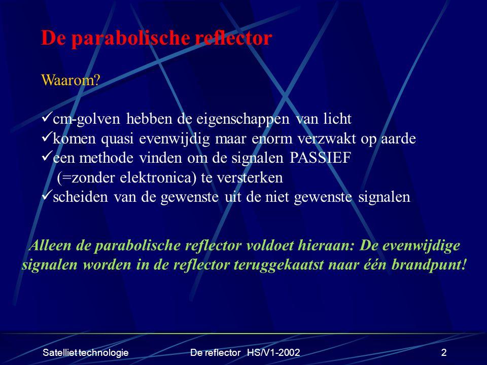 De parabolische reflector