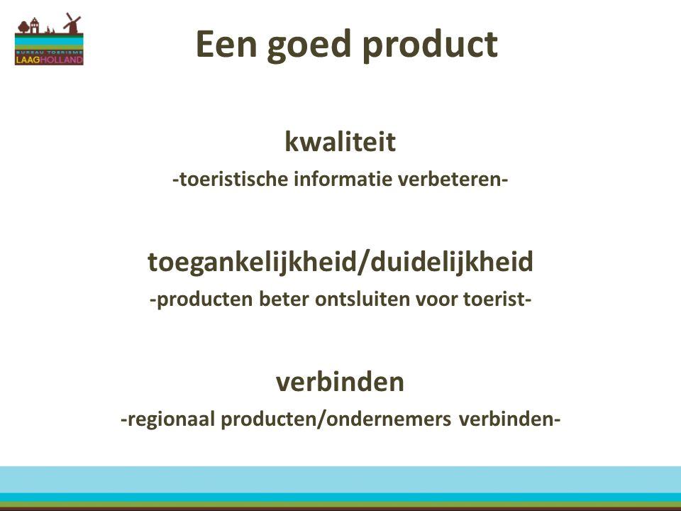 Een goed product kwaliteit toegankelijkheid/duidelijkheid verbinden
