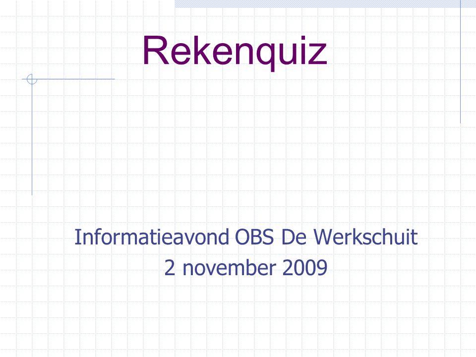 Informatieavond OBS De Werkschuit