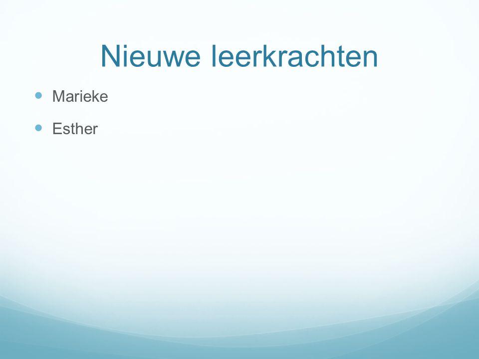 Nieuwe leerkrachten Marieke Esther Marieke en Esther Werkervaring