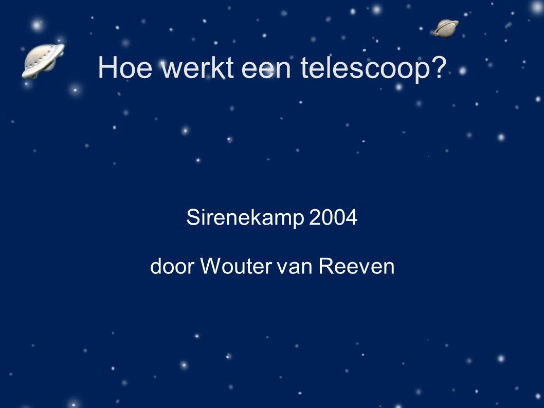 Hoe werkt een telescoop