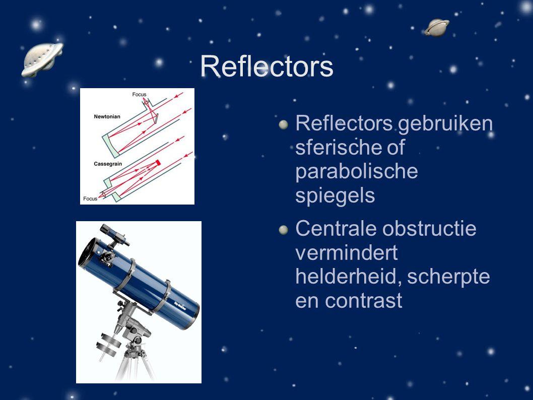 Reflectors Reflectors gebruiken sferische of parabolische spiegels