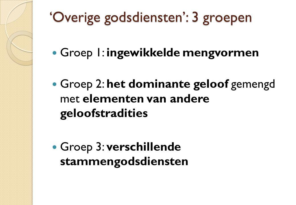 'Overige godsdiensten': 3 groepen