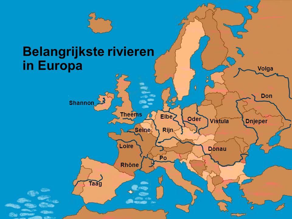 Belangrijkste rivieren in Europa