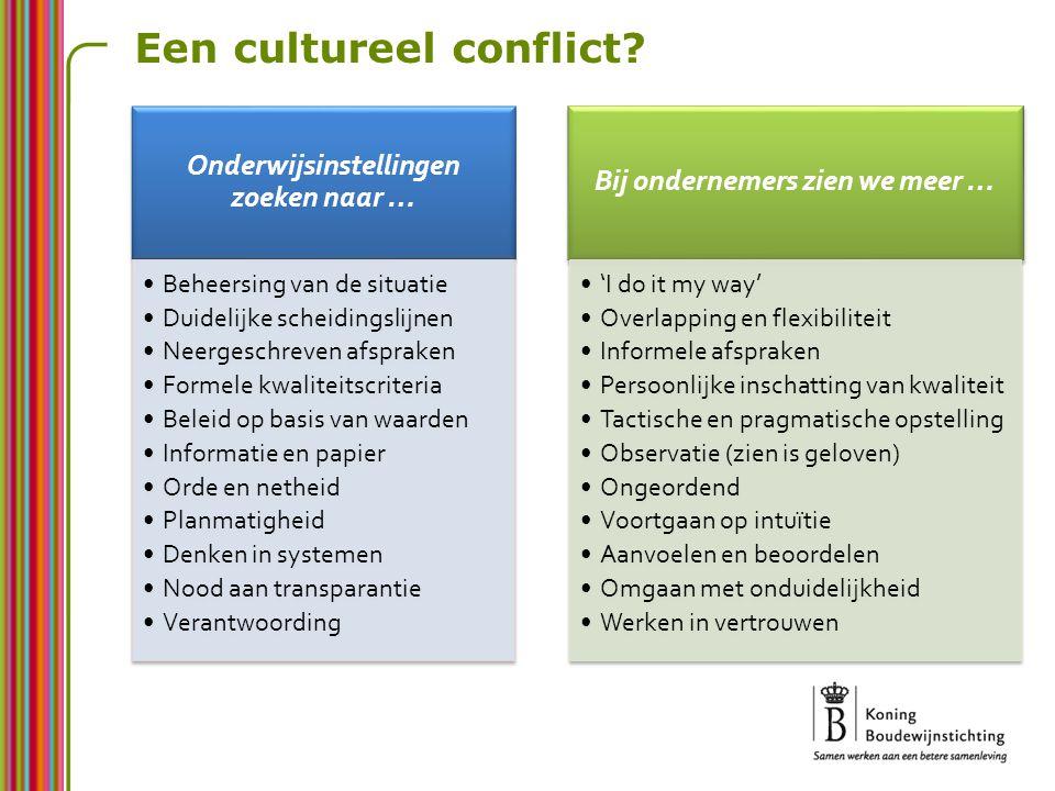 Een cultureel conflict