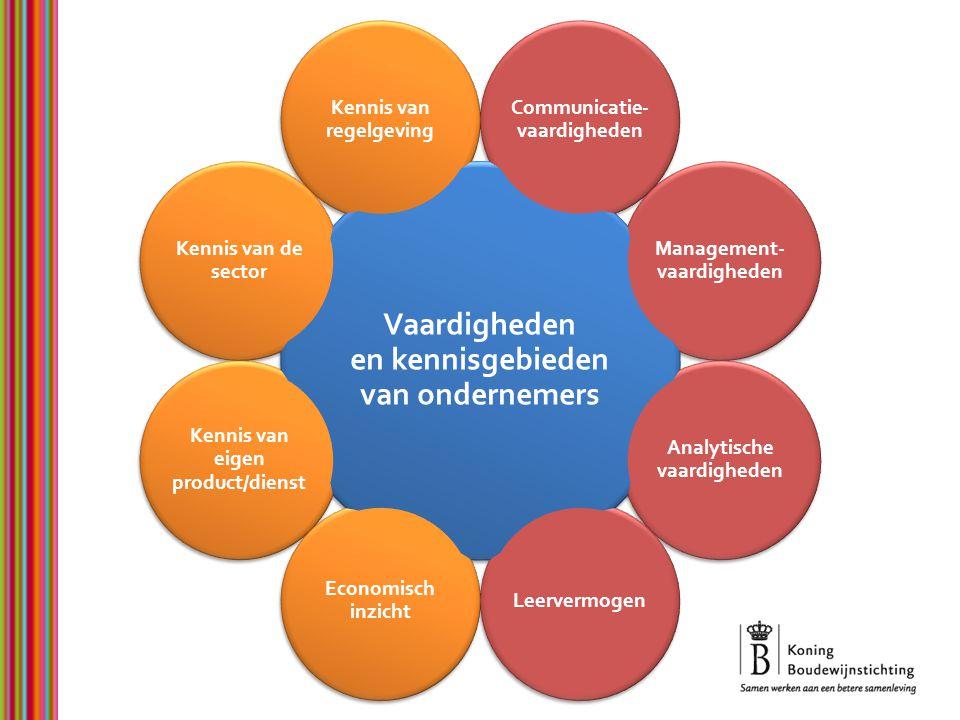 Vaardigheden en kennisgebieden van ondernemers