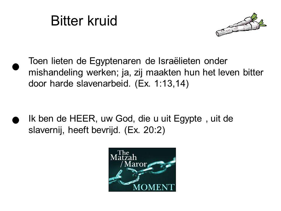 Bitter kruid Toen lieten de Egyptenaren de Israëlieten onder