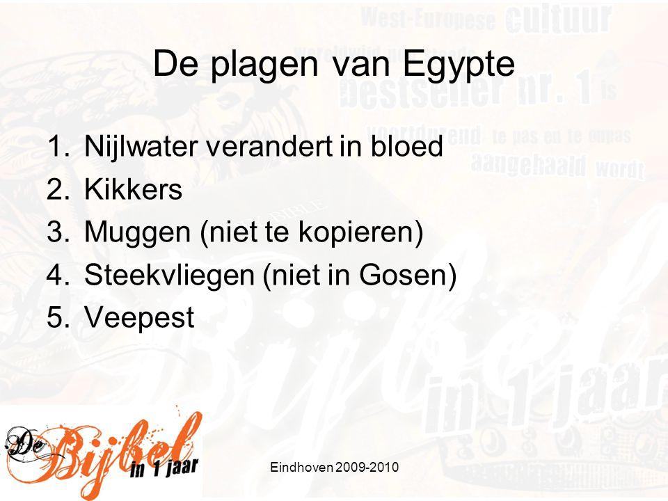 De plagen van Egypte Nijlwater verandert in bloed Kikkers
