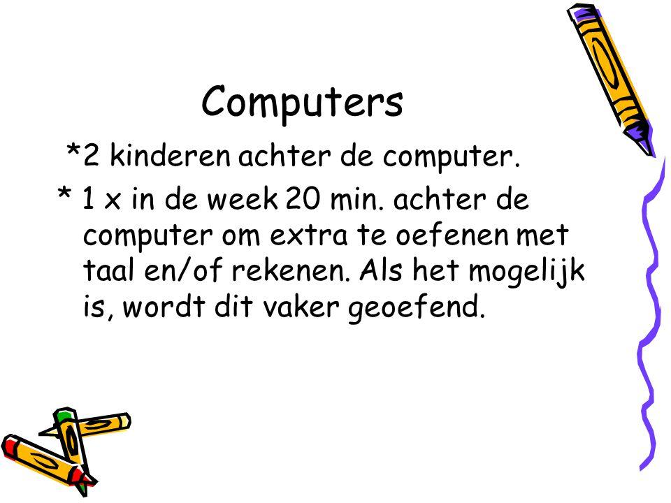 Computers *2 kinderen achter de computer.