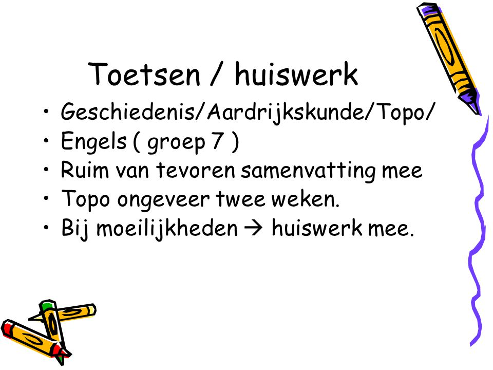 Toetsen / huiswerk Geschiedenis/Aardrijkskunde/Topo/