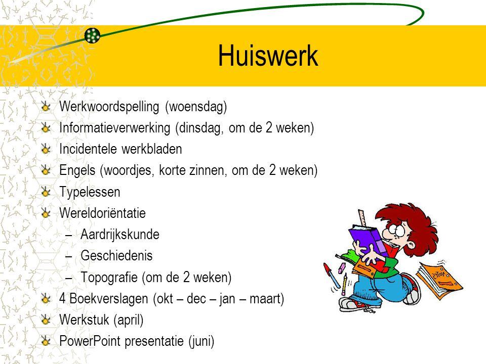 Huiswerk Werkwoordspelling (woensdag)