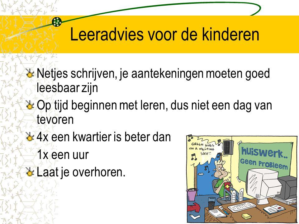 Leeradvies voor de kinderen