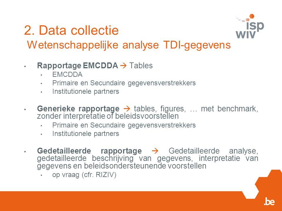 2. Data collectie Wetenschappelijke analyse TDI-gegevens