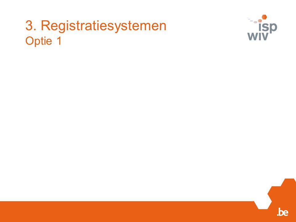 3. Registratiesystemen Optie 1