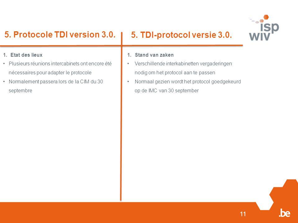 5. Protocole TDI version 3.0. 5. TDI-protocol versie 3.0.
