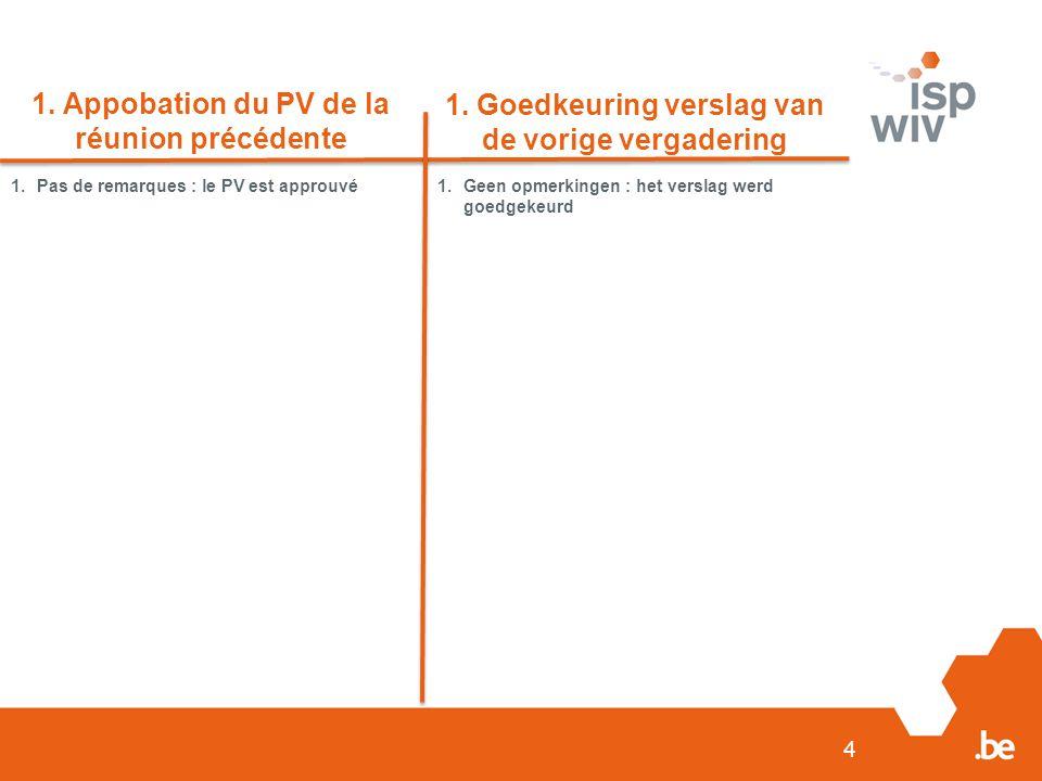 1. Appobation du PV de la réunion précédente