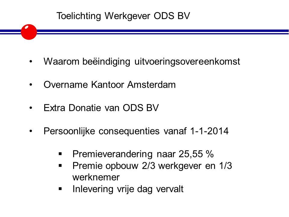 Toelichting Werkgever ODS BV