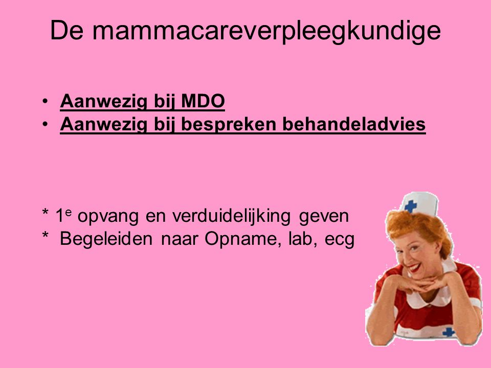 De mammacareverpleegkundige