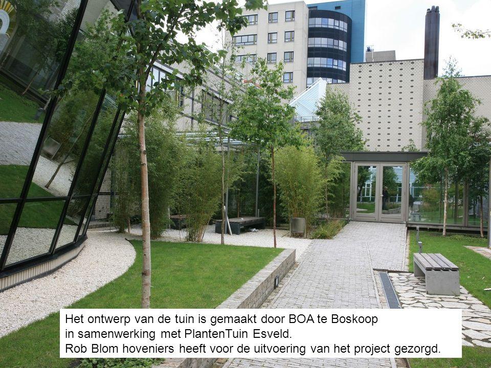 Het ontwerp van de tuin is gemaakt door BOA te Boskoop