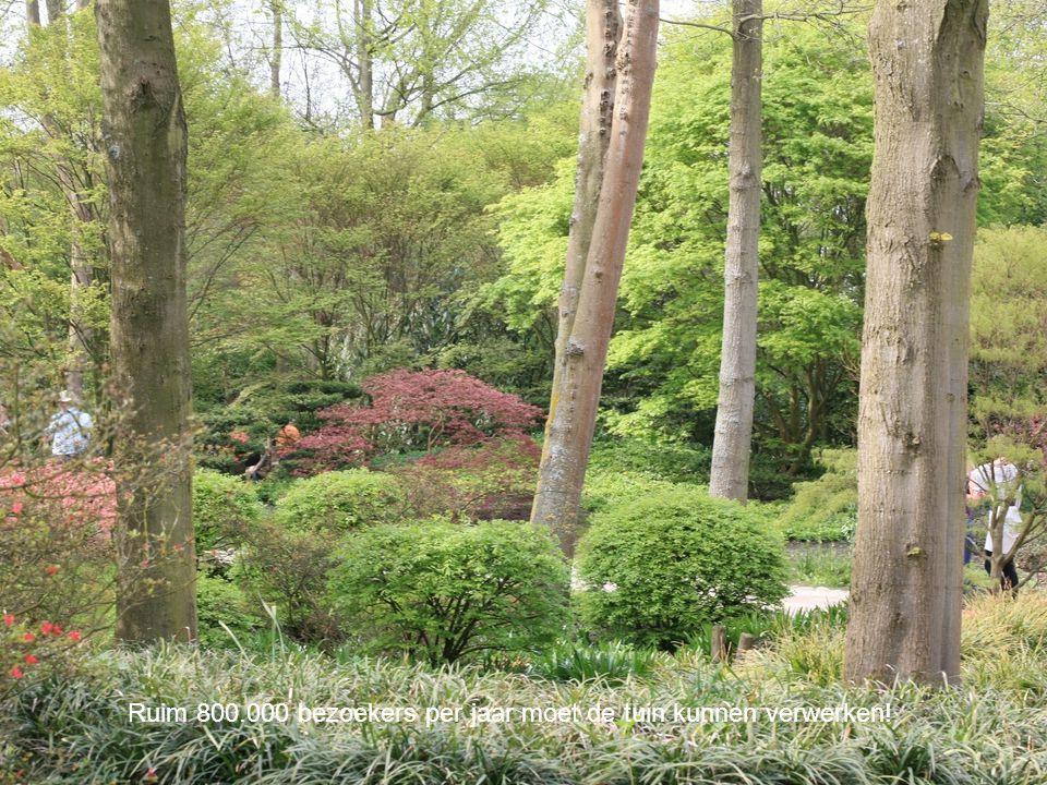Ruim 800.000 bezoekers per jaar moet de tuin kunnen verwerken!