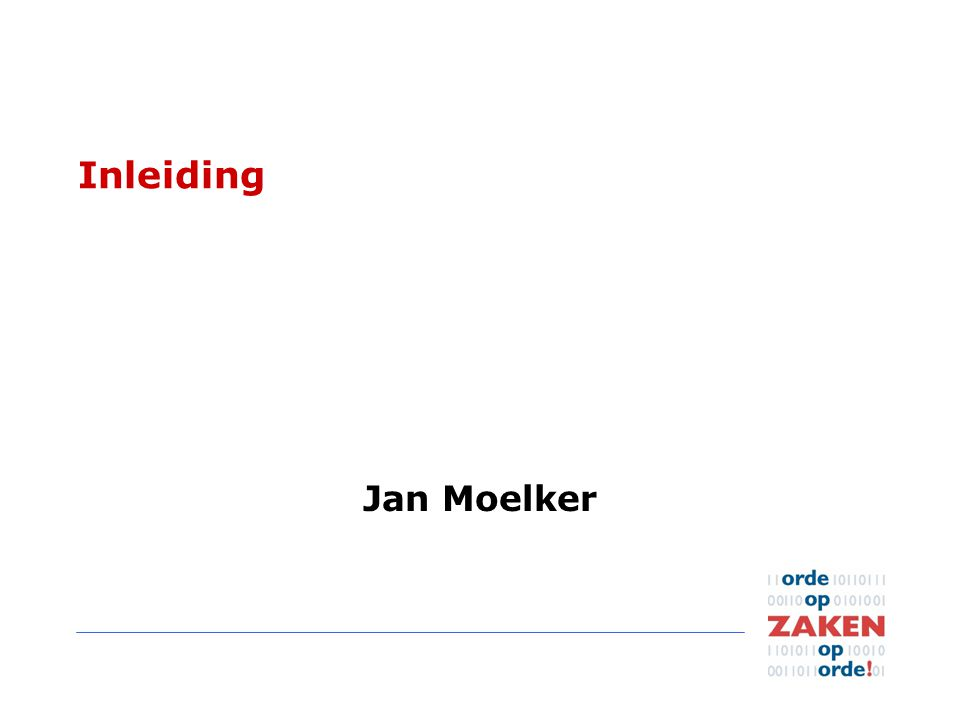 Inleiding Jan Moelker