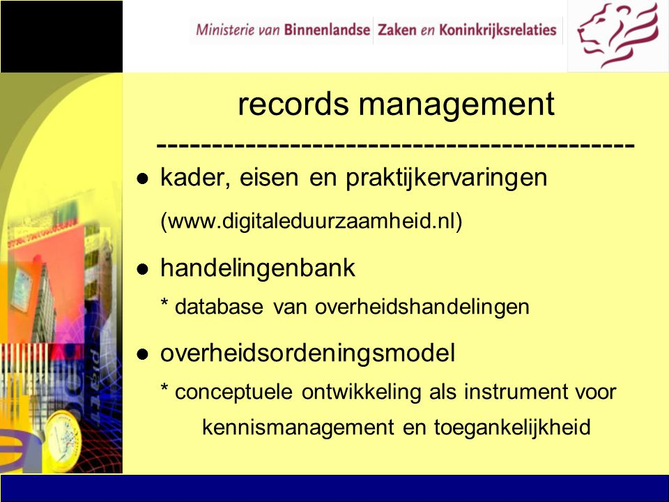 records management -------------------------------------------