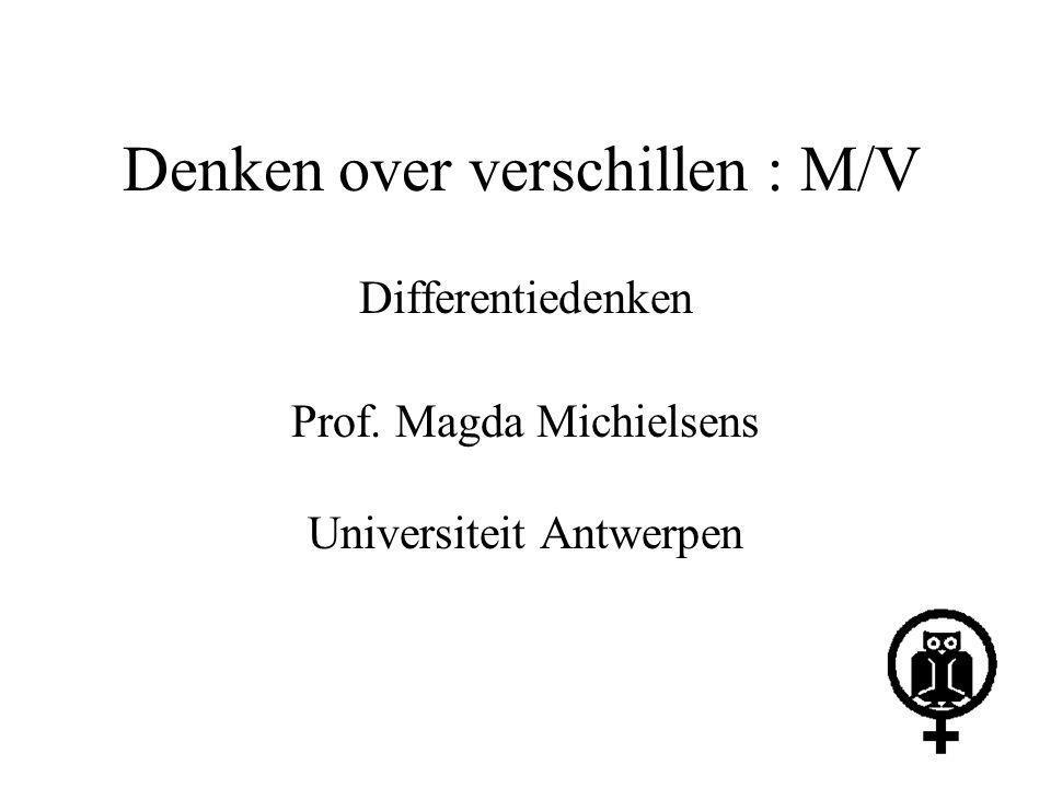 Denken over verschillen : M/V