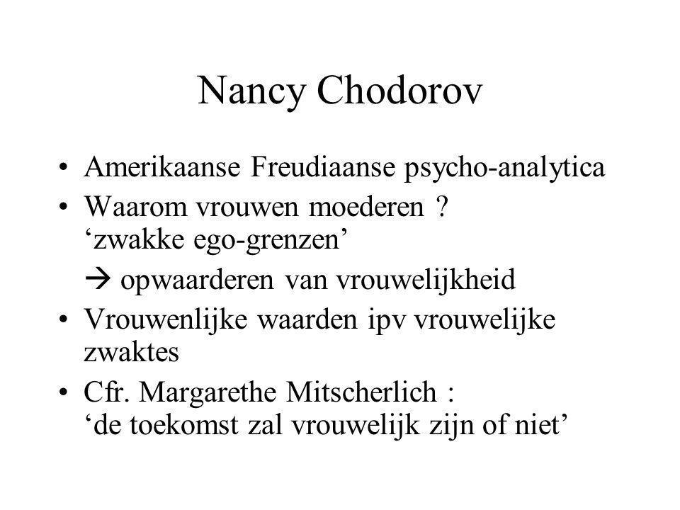 Nancy Chodorov Amerikaanse Freudiaanse psycho-analytica