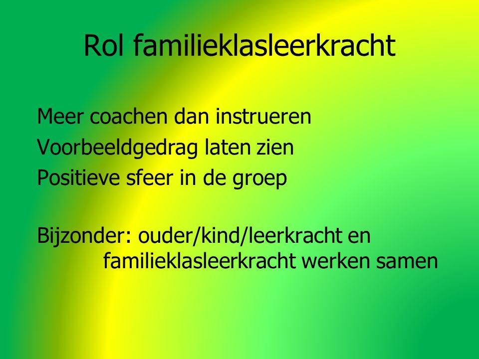 Rol familieklasleerkracht