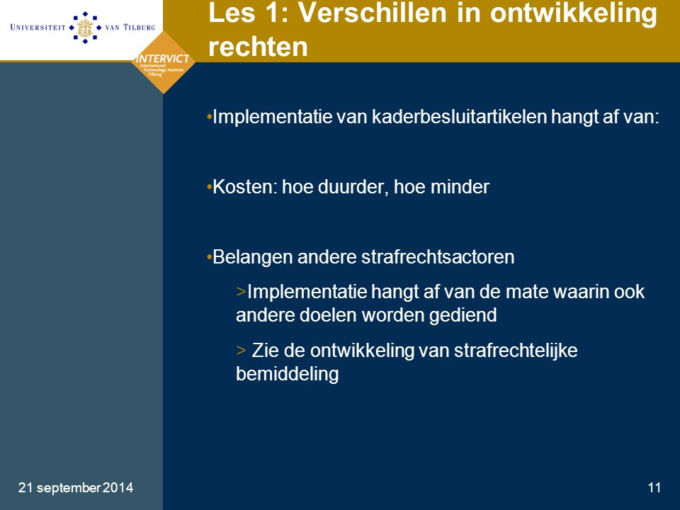 Les 1: Verschillen in ontwikkeling rechten