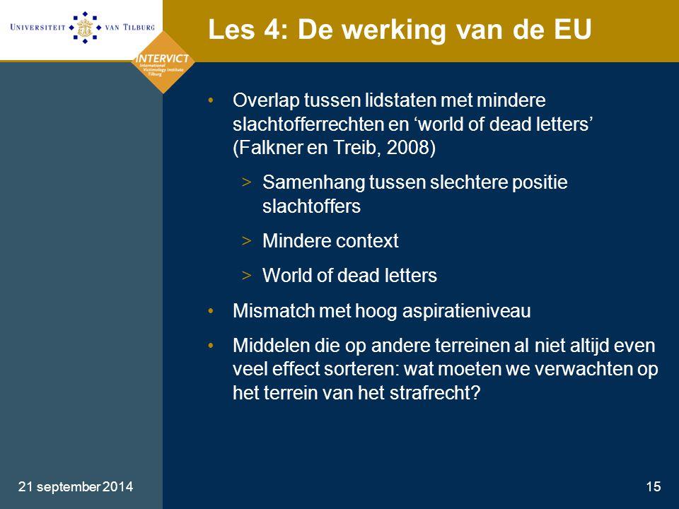 Les 4: De werking van de EU