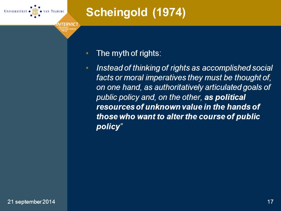 Scheingold (1974) The myth of rights: