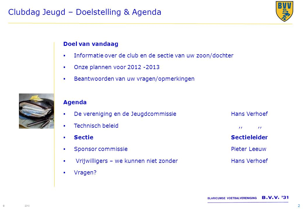 Clubdag Jeugd – Doelstelling & Agenda