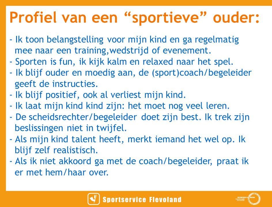 Profiel van een sportieve ouder: