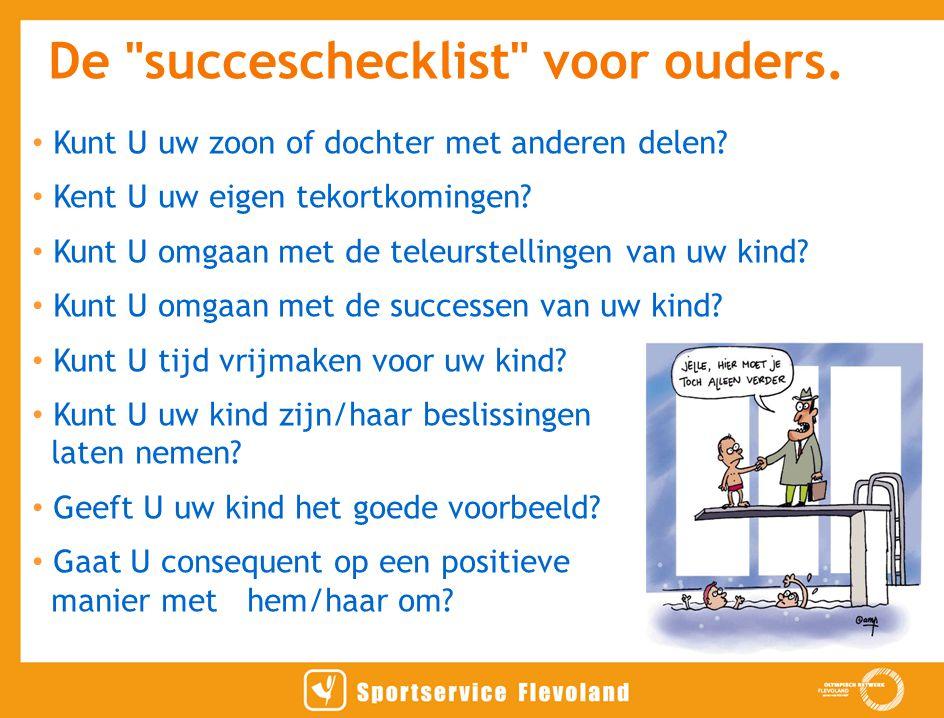 De succeschecklist voor ouders.