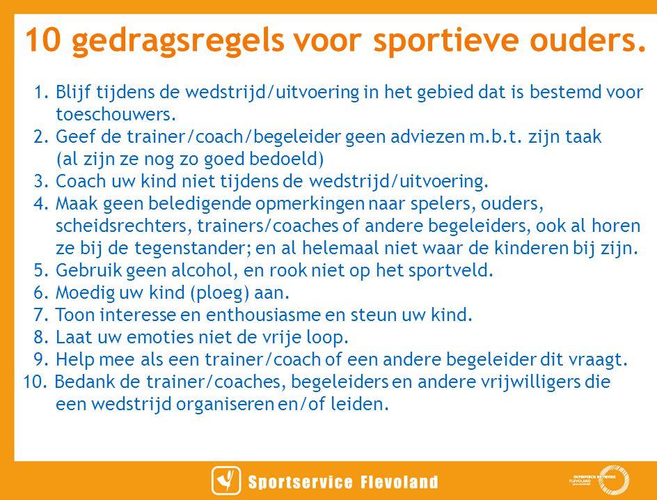 10 gedragsregels voor sportieve ouders.