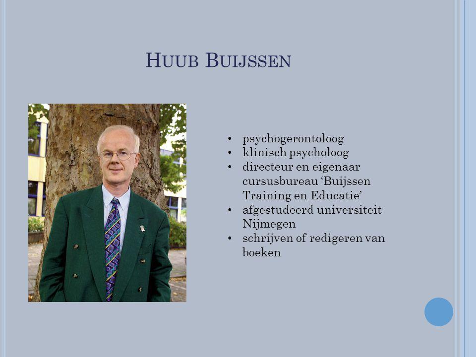 Huub Buijssen psychogerontoloog klinisch psycholoog