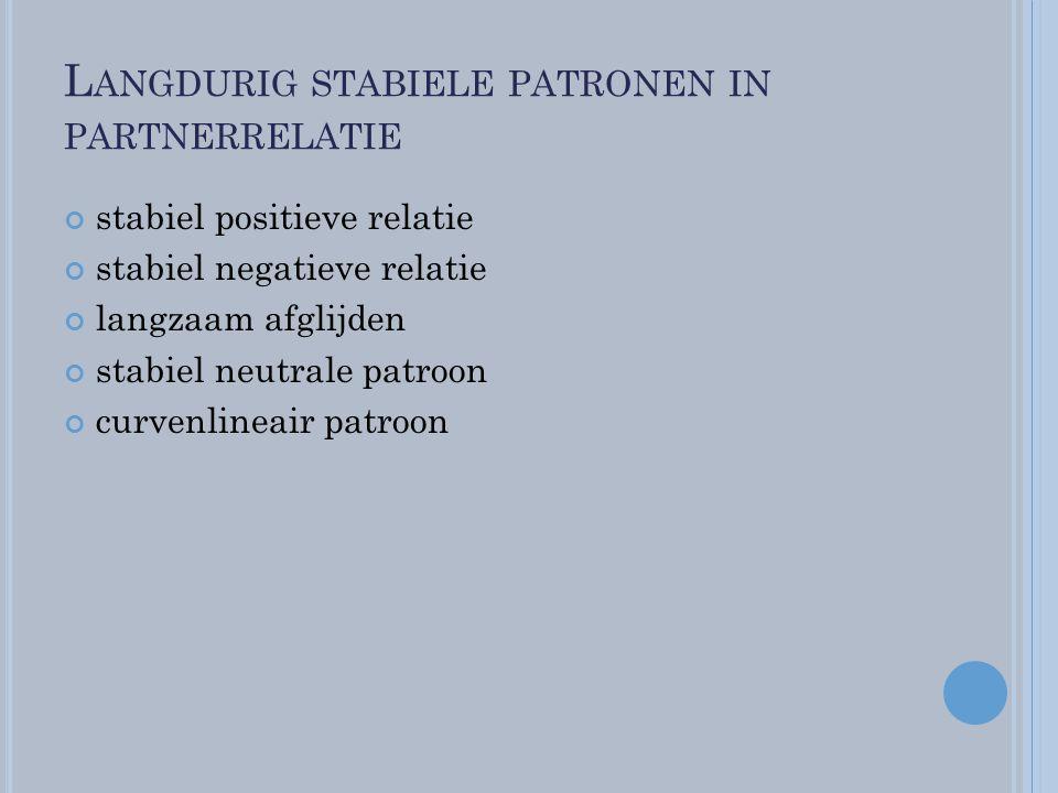 Langdurig stabiele patronen in partnerrelatie