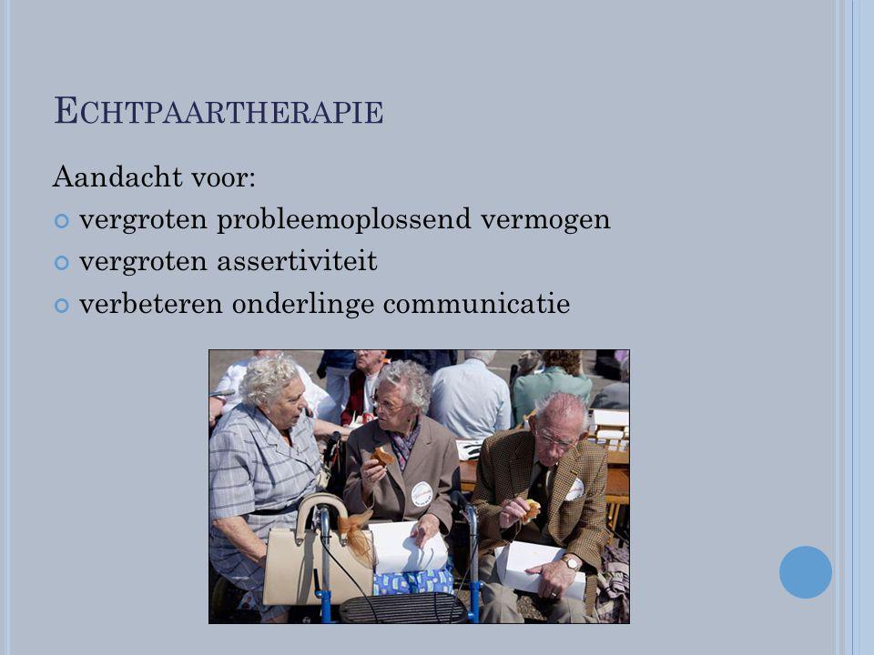 Echtpaartherapie Aandacht voor: vergroten probleemoplossend vermogen