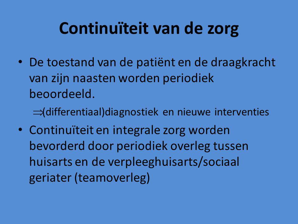 Continuïteit van de zorg